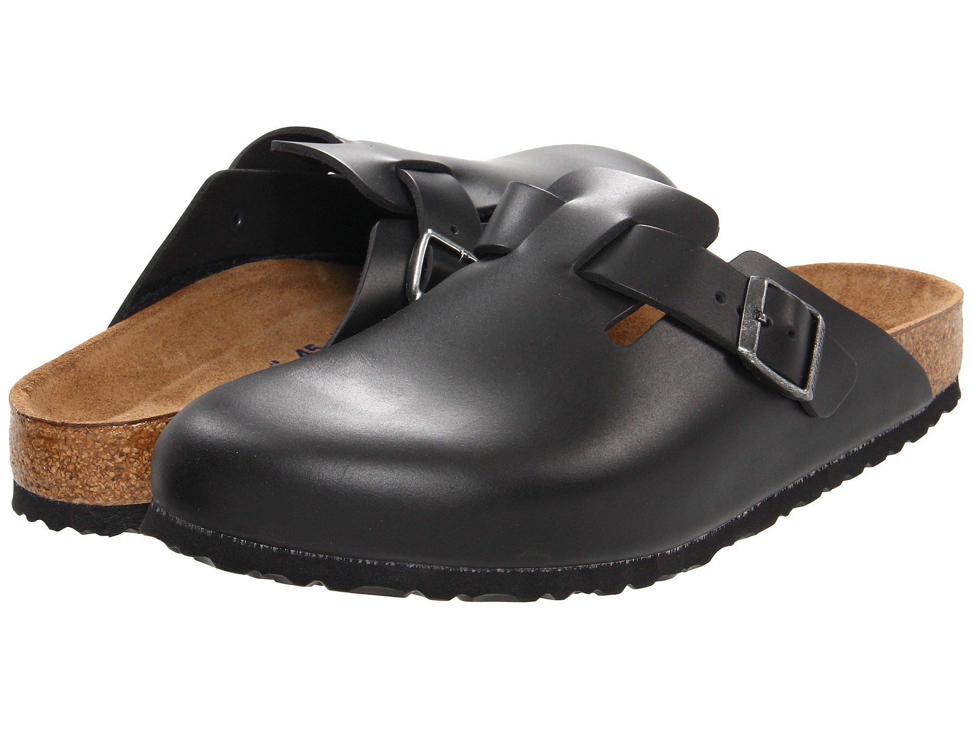 birkenstock boston soft footbed clog amalfi black leather