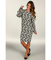 Winter Kate - Silk Crepe Herringbone Dress
