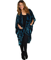 Winter Kate - Printed Velvet Poncho
