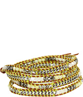 Chan Luu - Yellow Mix Wrap Bracelet with Stones and Chain