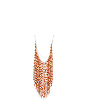 Chan Luu - Coin Fringe Necklace With Orange Thread