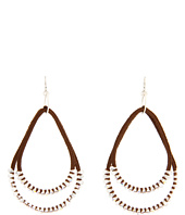Chan Luu - Howlite and Crystal Mix Large Tear Earring