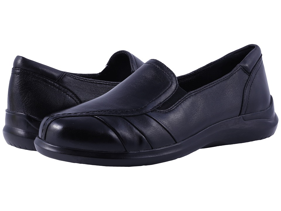 Aravon - Faith (Black) Women's Slip on  Shoes