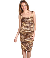 Nicole Miller - Leopard On Techno Metal Dress