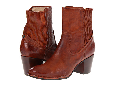 Shop Frye online and buy Frye Lucinda Scrunch Short Cognac Antique Soft Full Grain Shoes - Frye - Lucinda Scrunch Short (Cognac Antique Soft Full Grain) - Footwear: The city is full of excitement, and the Lucinda Scrunch Short boot by Frye will make sure you see all of it, providing unbelievable style and comfort every step of the way. ; Soft antique full-grain leather. ; Back gore panel for extra stretch that provides more comfortable movement. ; Smooth leather lining. ; Stacked heel. ; Lightly cushioned leather footbed. ; Durable leather outsole. Measurements: ; Heel Height: 2 3 4 in ; Weight: 15 oz ; Circumference: 9 in ; Shaft: 7 1 2 in ; Product measurements were taken using size 8.5, width B - Medium. Please note that measurements may vary by size.