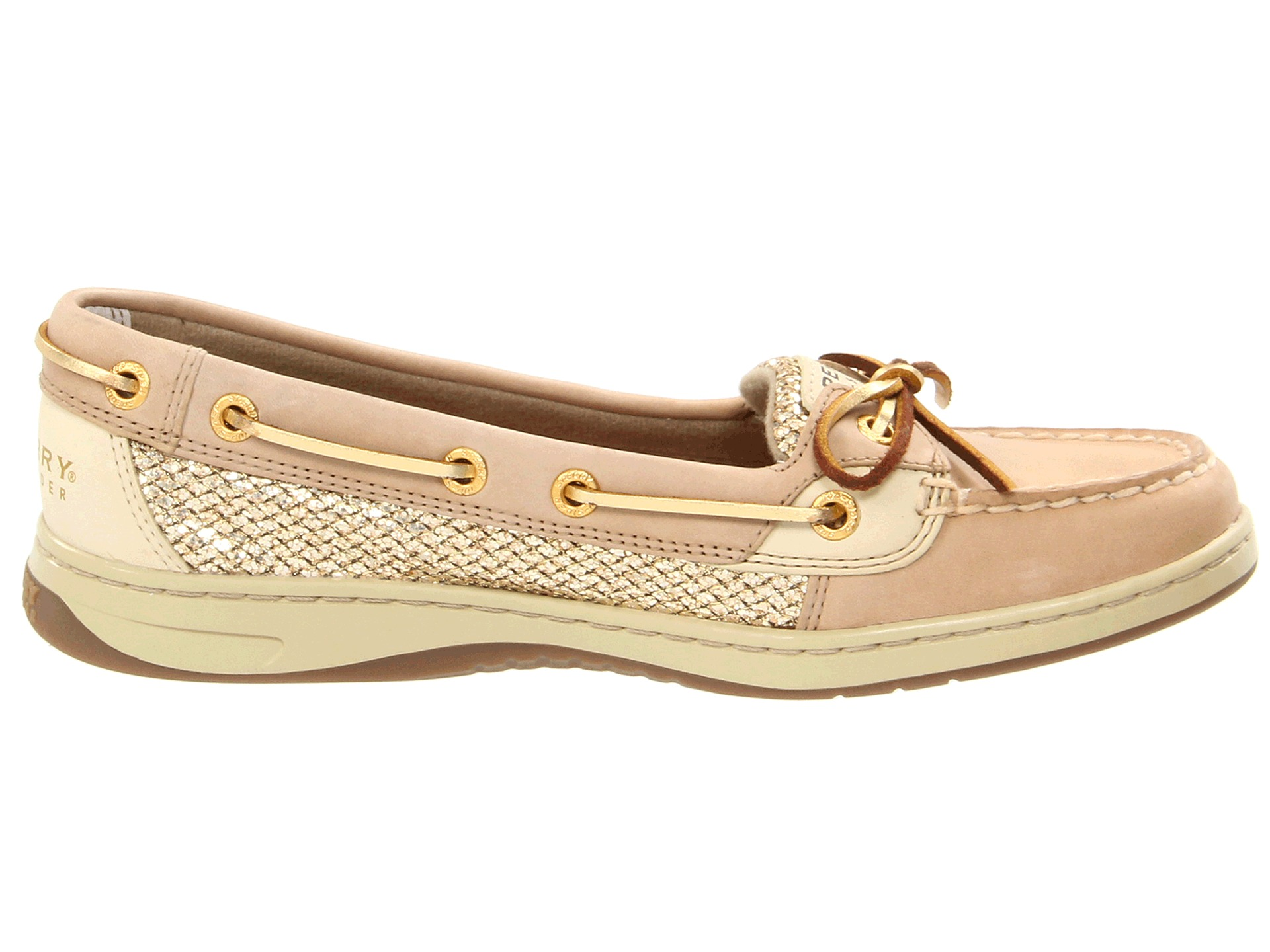 Sperry top sider angelfish linen gold glitter | Shipped ...