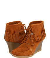 Minnetonka - Lace Up Fringe Ankle Wedge Boot
