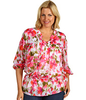 Jones New York - Plus Size Long Sleeve Pintucked Top