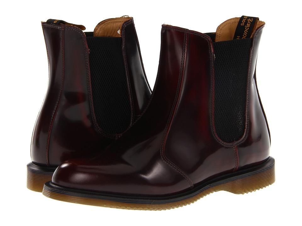 Dr. Martens Flora Chelsea Boot (Burgundy Classic Rub Off) Women