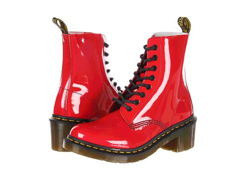 Dr Martens POOCH Patent Lamper Velvet Boots Stiefel FOR KIDS Rockabilly