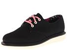 Dr. Martens - Pierce 3-Eye Shoe (Black/Fine Canvas) - Footwear