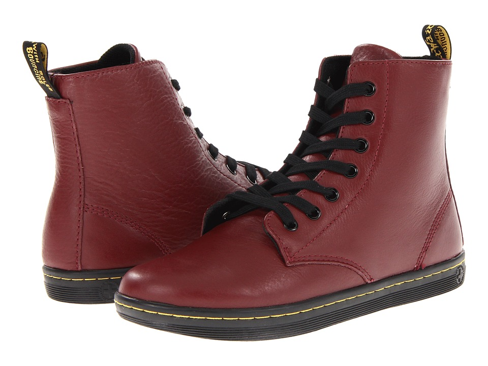 Dr. Martens Leyton 7 Eye Boot Cherry Red Womens Lace up Boots