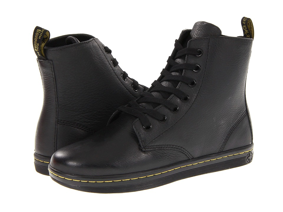 Dr. Martens Leyton 7 Eye Boot Black Womens Lace up Boots