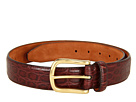 Cole Haan - Croc Embossed Belt (Chestnut Croc Print) - Apparel