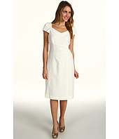 Tahari by ASL - Crepe Sweetheart Neck Cap Sleeves
