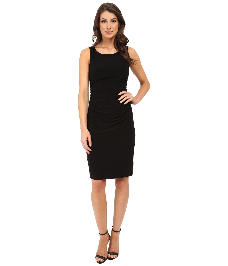 KAMALIKULTURE by Norma Kamali Sleeveless Shirred Waist Dress Black Womens Dress