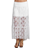 ABS Allen Schwartz - Hi-lo Knit Band Lace Skirt