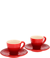 Le Creuset - Espresso Cups and Saucers - Set of 2