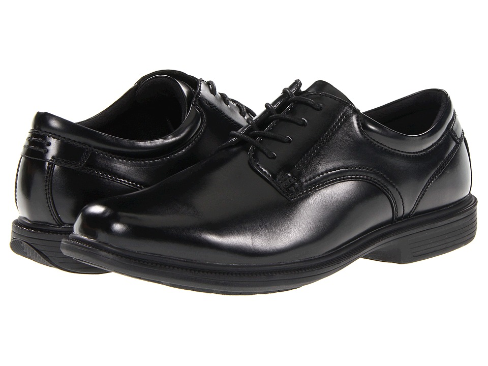 Nunn Bush - Baker Street Plain Toe Oxford with KORE Slip Resistant Walking Comfort Technology (Black) Mens Plain Toe Shoes