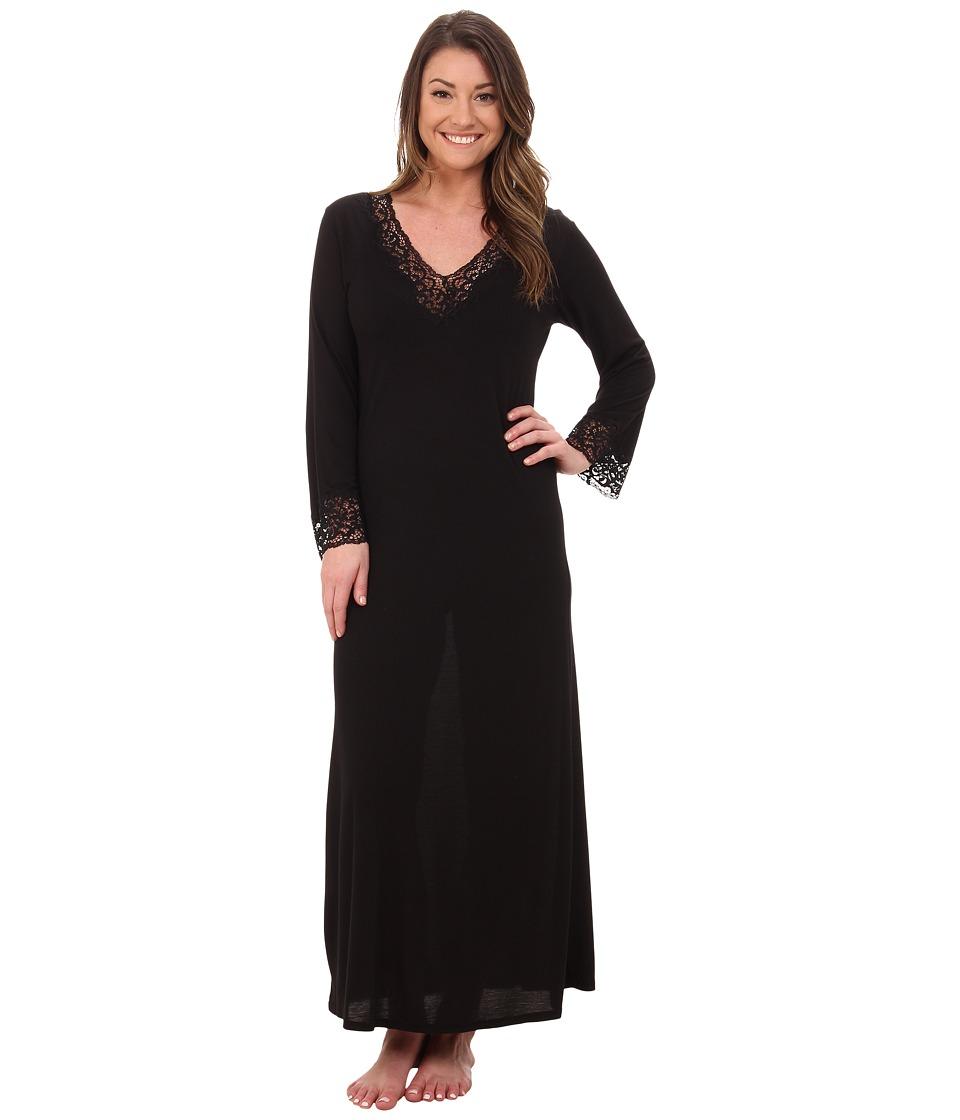 Natori - Lhasa Lounger (Black/Black Lace) Womens Pajama