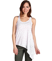 Pure & Simple - Rib Burnout Asymmetrical Sleeveless Top w/ Back Keyhole