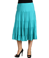 Karen Kane Plus - Plus Size Coral Casino Crushed Tiered Skirt