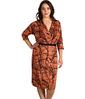 Karen Kane Plus - Plus Size Coral Casino Tuck Dress