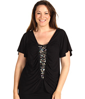 Karen Kane Plus - Plus Size Call Of The Canyon Paillette Top