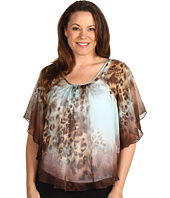 Karen Kane Plus - Plus Size Call Of The Canyon Angel Sleeve Top