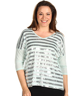 Karen Kane Plus - Plus Size Call Of The Canyon Sequin Stripe Top