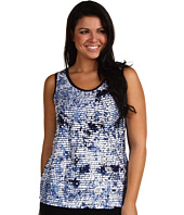 Karen Kane Plus - Plus Size Mesa Blues Night Life Sequin Tank Top