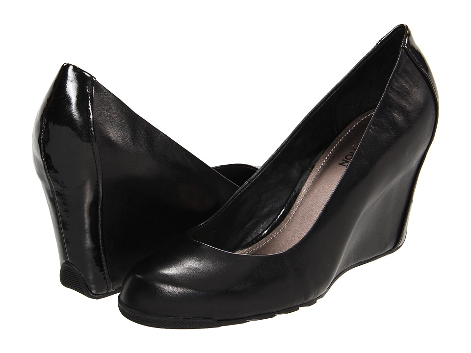 Kenneth Cole Reaction - Did U Tell (Black Leather) Womens Wedge Shoes