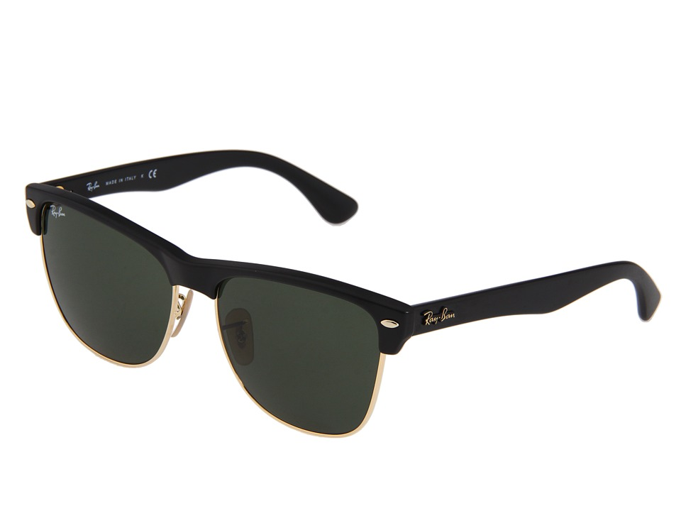Ray Ban RB4175 Oversized Clubmaster 57mm Demi Shiny/Black Green Fashion Sunglasses