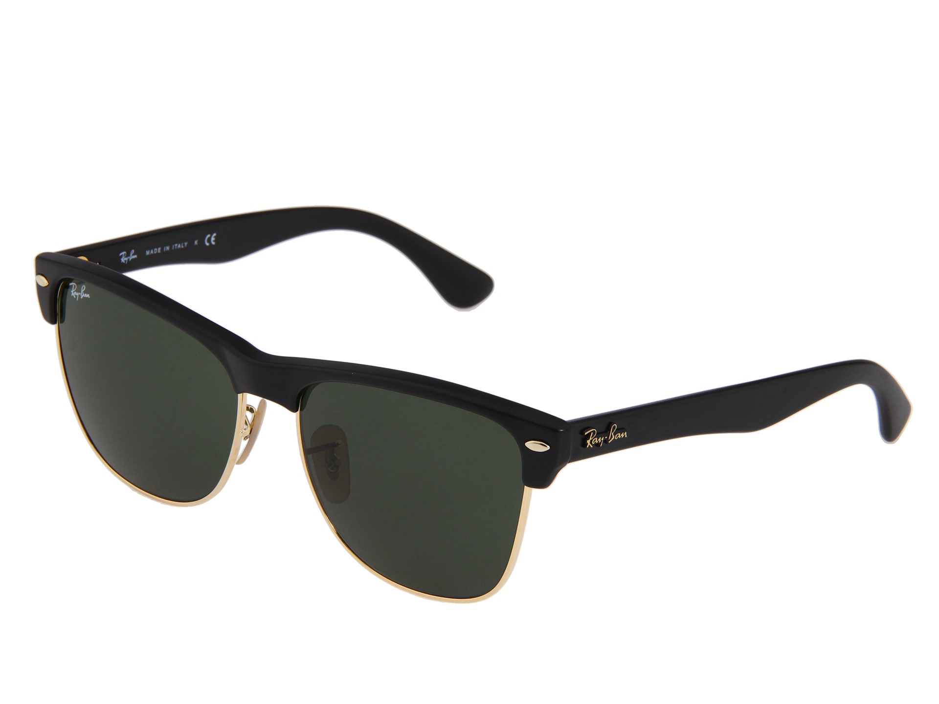 oversized clubmaster  Ray-Ban RB4175 Oversized Clubmaster 57mm - Zappos.com Free ...