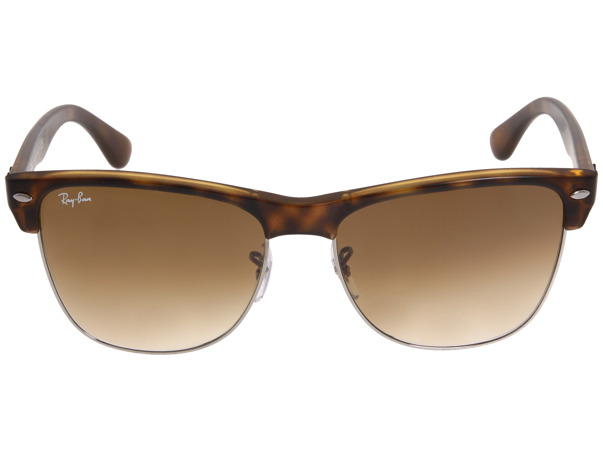 ray ban oversized clubmaster sunglasses  Ray-Ban RB4175 Oversized Clubmaster 57mm - Zappos.com Free ...