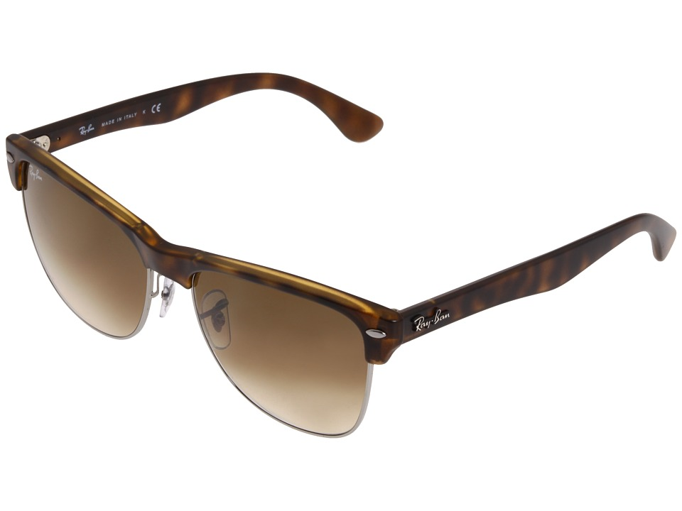 Ray Ban RB4175 Oversized Clubmaster 57mm Demi Shiny Havana/Brown Gradient Fashion Sunglasses
