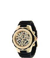 Michele - Tahitian Jelly Bean Gold-Tone Black Cheetah Dial