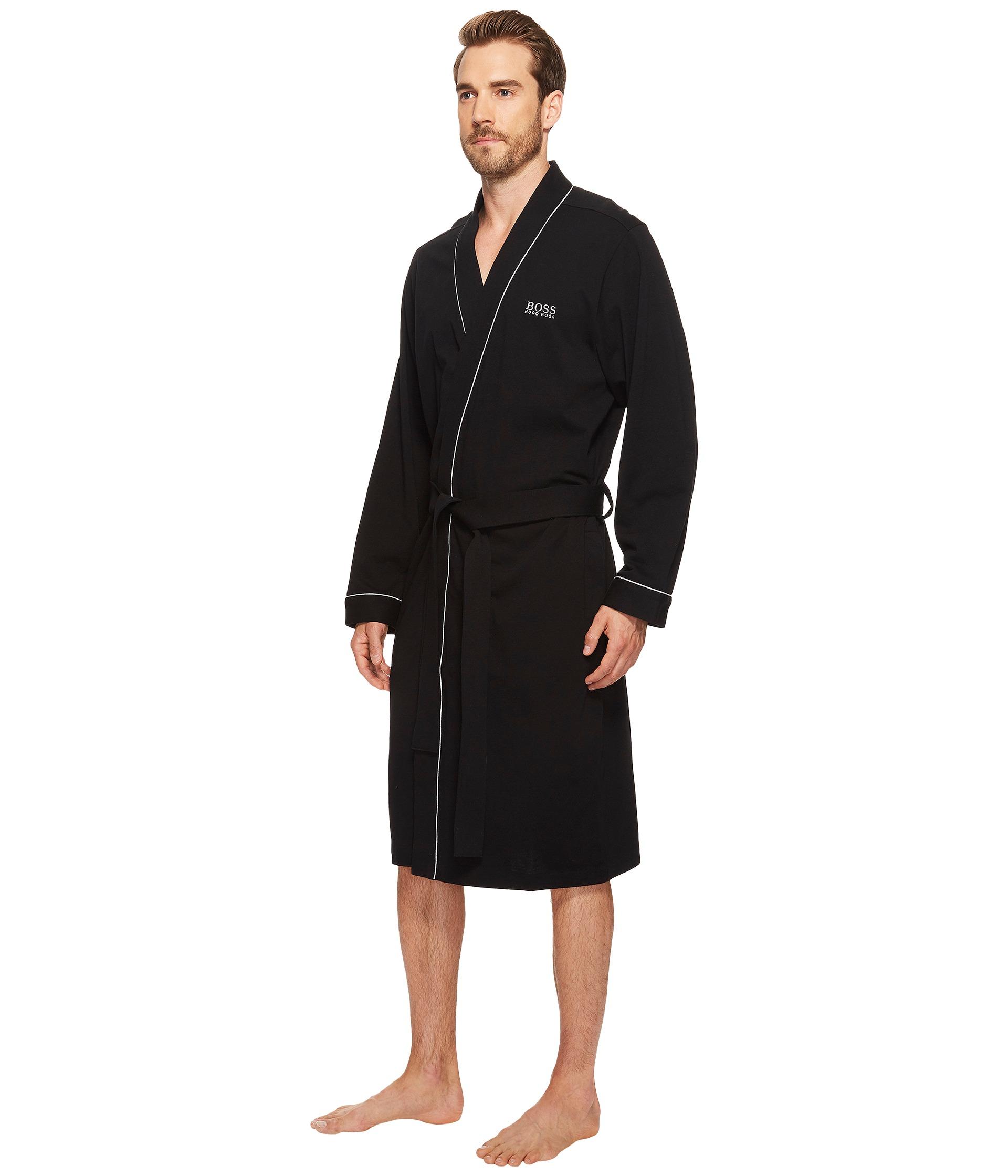 Boss hugo boss innovation 1 cotton kimono robe at for Robe de mariage hugo boss