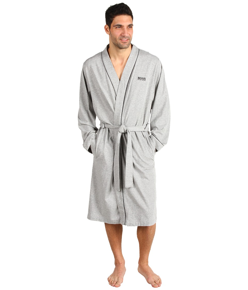 BOSS Hugo Boss - Innovation 1 Cotton Kimono Robe (Grey) Mens Robe