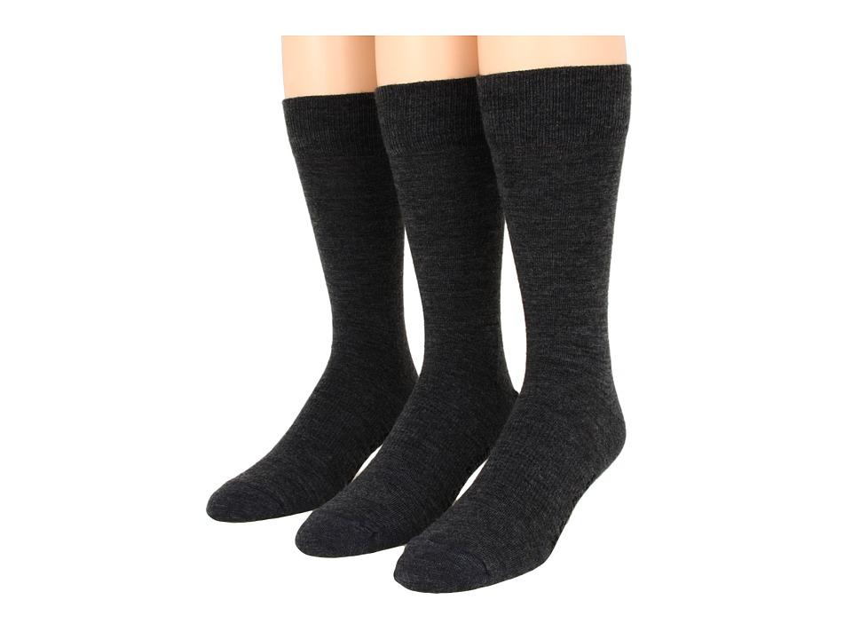 Fox River Jersey Dress 3 Pair Pack Dark Charcoal Mens Crew Cut Socks Shoes