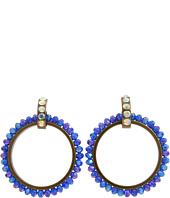 Betsey Johnson - Morocco Adventure Blue Crystal Doorknocker Hoops