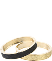 Betsey Johnson - Classic Boost Black and Gold Duo Hinged Bangle