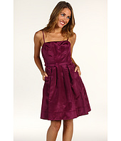 Eliza J - Seamed Dress w/ Belt and Pleated Skirt