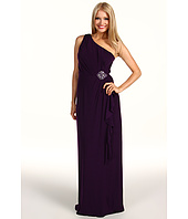 Eliza J - One Shoulder Gown w/ Beaded Waist Detail