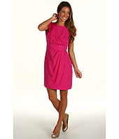 Eliza J - Cap Sleeve Dress w/ Drape Skirt