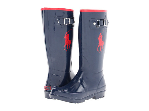 Polo Ralph Lauren Kids Ralph Rainboot (Little Kid) - Navy/Red Rubber