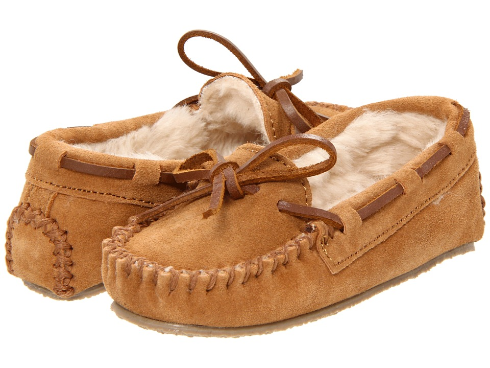 Minnetonka Kids - Cassie Slipper (Toddler/Little Kid/Big Kid) (Cinnamon Suede) Girls Shoes