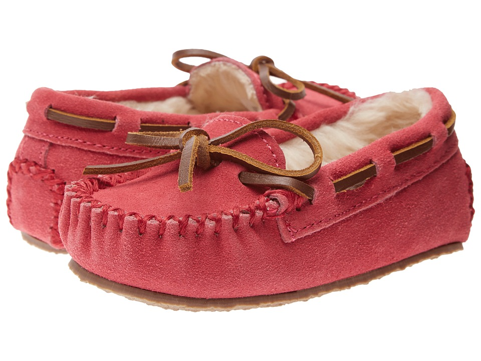 Minnetonka Kids Cassie Slipper (Toddler/Little Kid/Big Kid) (Hot Pink Suede) Girls Shoes