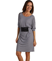 MICHAEL Michael Kors - Rattan Geo Print Belted Waist Dress