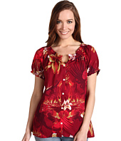 Lucky Brand - Amber Tropical Palm Print Top